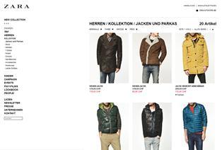 Zara online Shop Schweiz