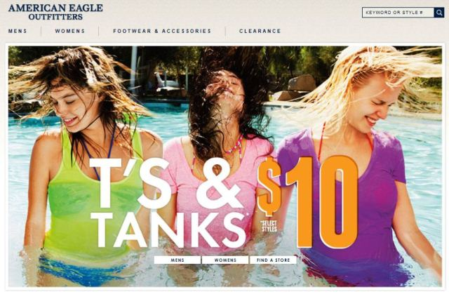 American Eagle Outfitters online Shop