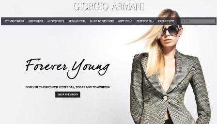 Armani online Shop