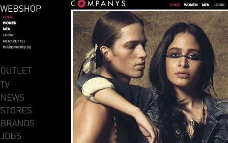 Companys online Shop