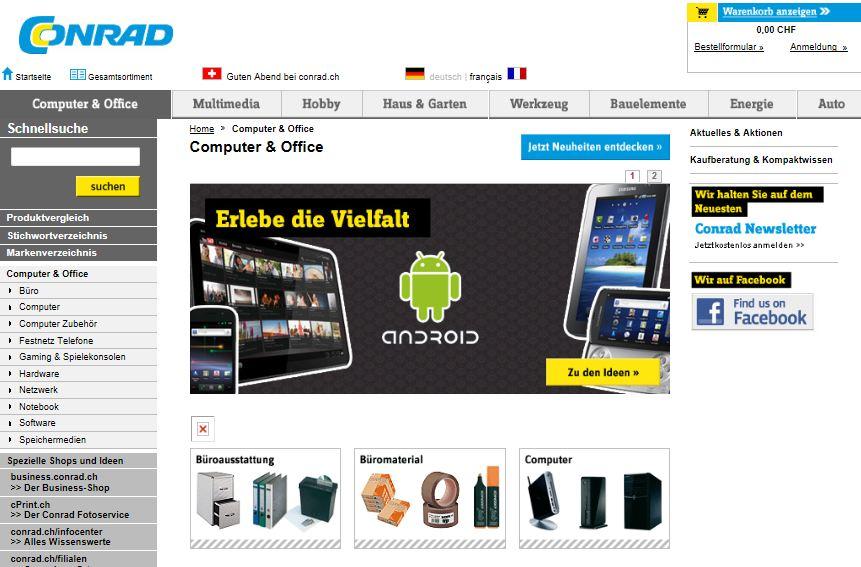 Conrad Schweiz Online Shop