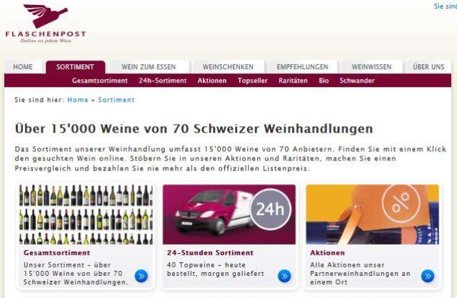 Flaschenpost online Shop