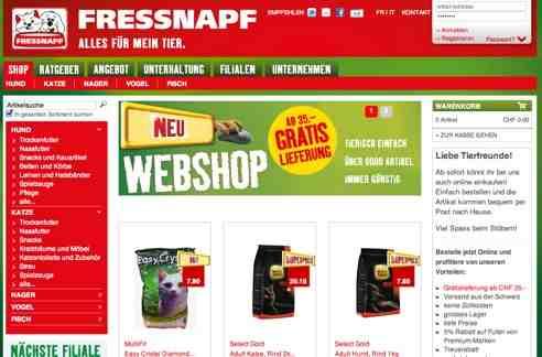Fressnapf.ch online Shop