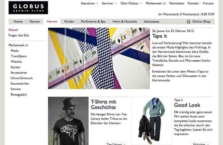 Globus.ch online Shop