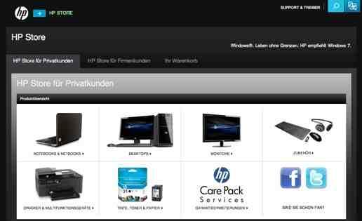 HP online Shop Schweiz