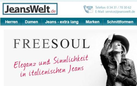 Jeanswelt online Shop
