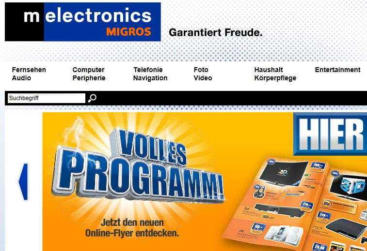 MElectronics Online Shop