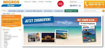 Migros Ferien online Shop