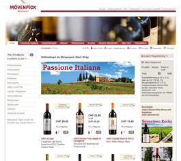 Moevenpick Wein online Shop
