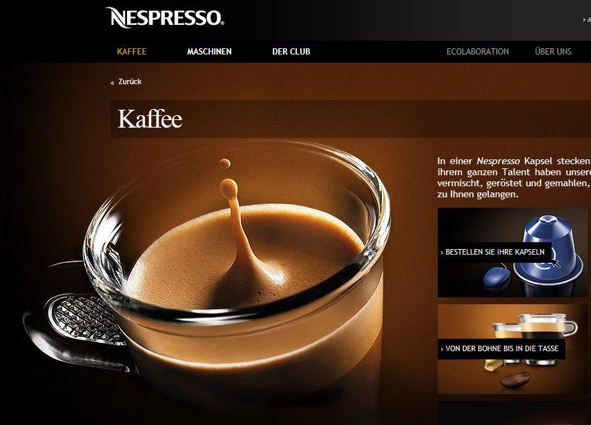 Nespresso online Shop