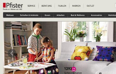 Pfister online Shop