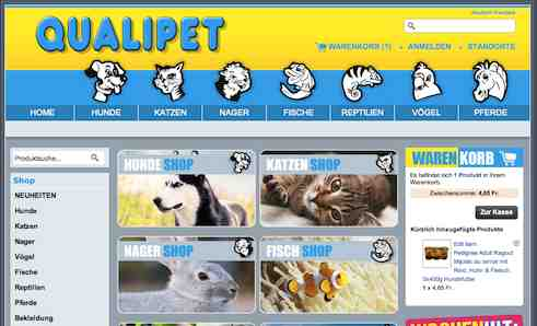 Qualipet Schweiz online Shop