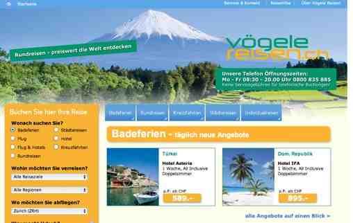 Voegele Reisen Schweiz online
