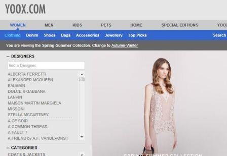 Yoox online Shop