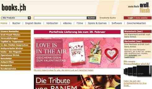book.ch online Shop