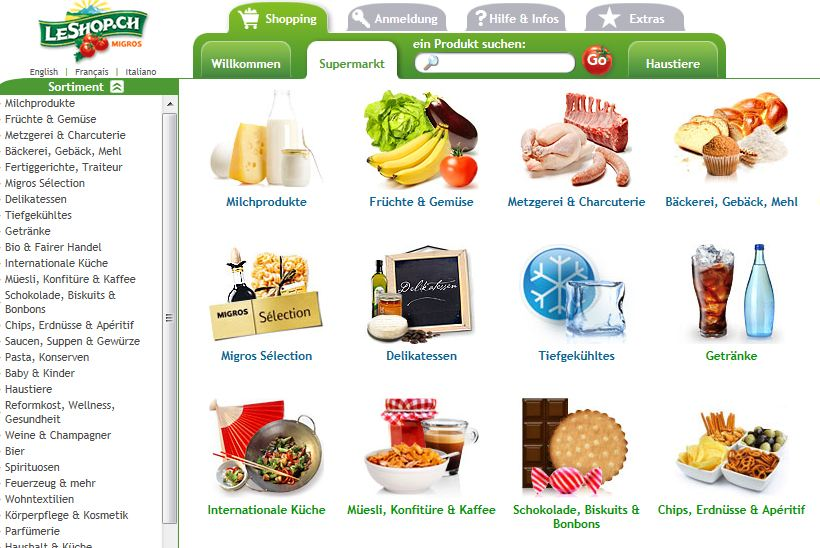 LeShop online Shop Schweiz