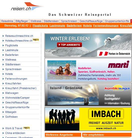 Reisen.ch online