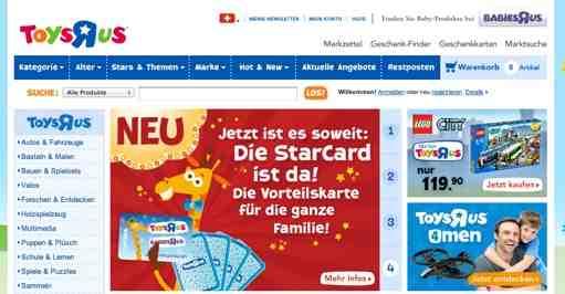 toysrus online Shop Schweiz