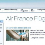 Air France online buchen