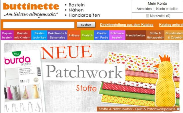 buttinette online Shop