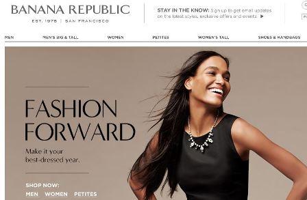 Banana Republic online Shop Schweiz