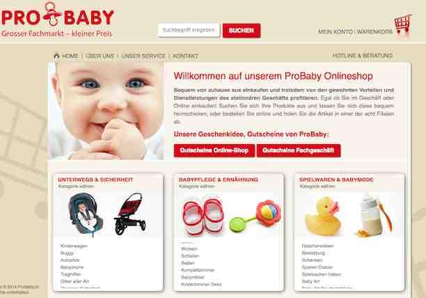 Pro Baby online Shop