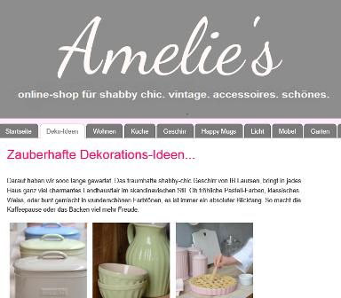 Amelies online Shop