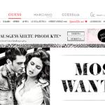 GUESS online Shop – Schweiz