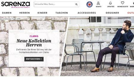Sarenza online Shop