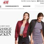 H&M online Shop Schweiz
