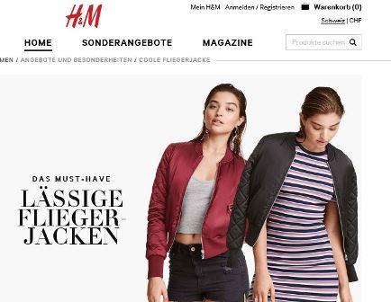 H und M Mode Shop online
