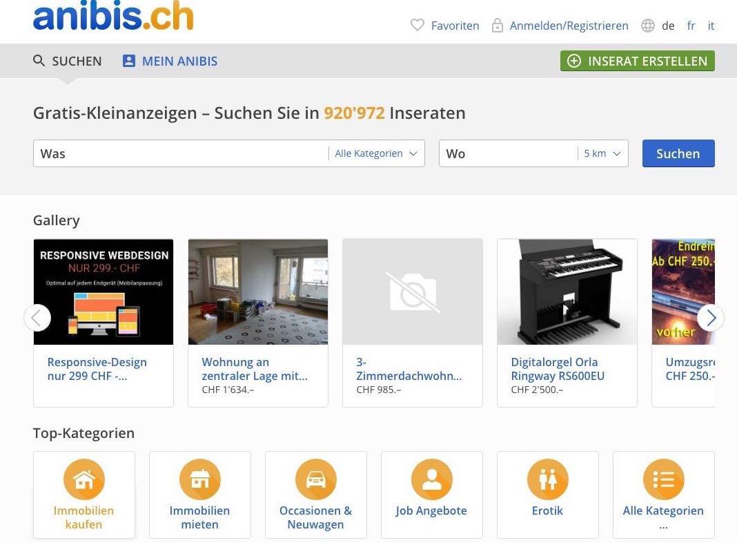 Anibis - Gratis Inserate Schweiz