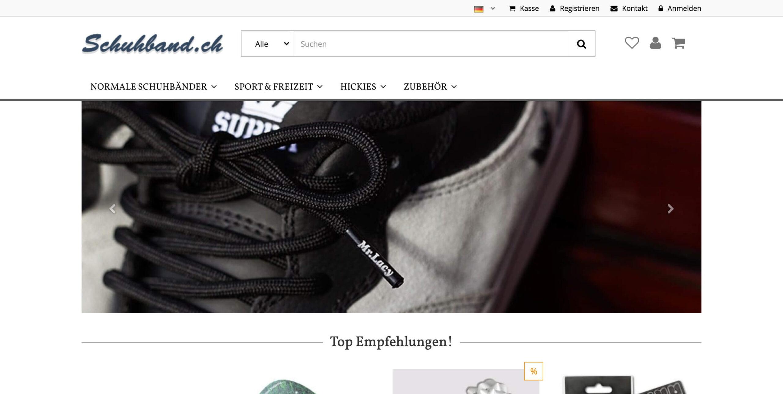 Schnürsenkel online Shop